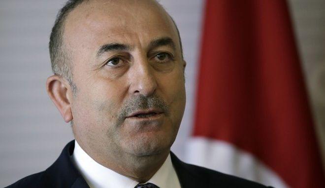 Ο Τούρκος ΥΠΕΞ, Μεβλούτ Τσαβούσογλου (AP Photo/Marco Ugarte)