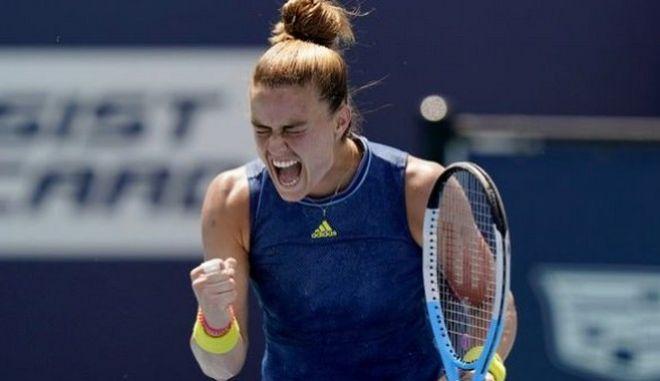 Σάκκαρη: Με μεγάλη ανατροπή, 2-1 την Ανισίμοβα στο Madrid Open