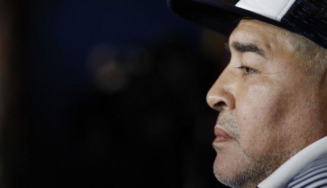 Ο Ντιέγκο Μαραντόνα, τον Μάρτιο του 2020