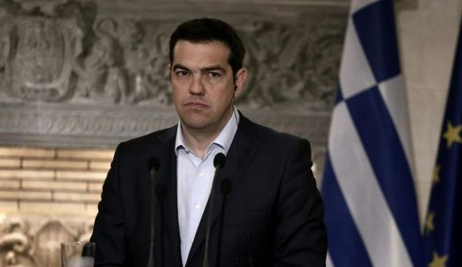 Greek Prime Minister Alexis Tsipras and the Austrian Chancellor Werner Faymann deliver a joint press conference after their meeting, at the Maximou Mansion, in Athens on June 17, 2015 /               ,   , , 17 , 2015