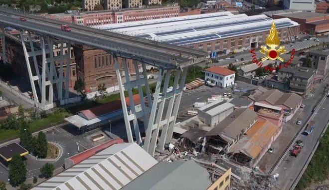 Τη λύπη της εξέφρασε η εταιρεία Autostrade για τα θύματα της κατάρρευσης της οδογέφυρας στη Γένοβα