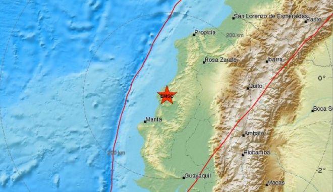 Ισχυρός σεισμός 6,2 Ρίχτερ στον Ισημερινό
