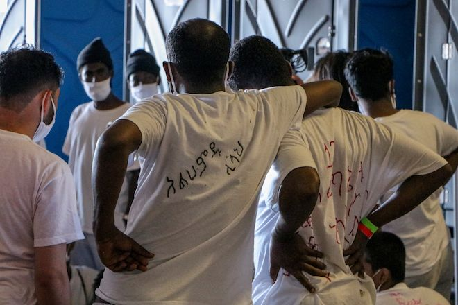 ROTATION 1, 14/06/21 - Rescue people safely on board receive medical care from MSF Teams