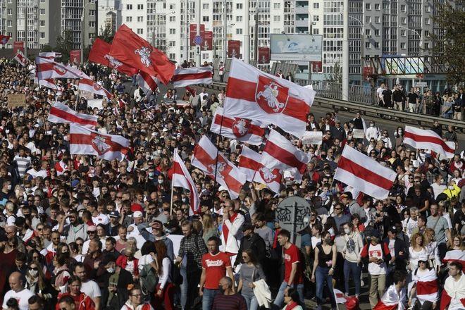 Διαδήλωση 13 Σεπτεμβρίου, Μινσκ, Λευκορωσία.