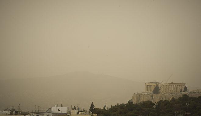 Σκόνη πάνω από την Αθήνα