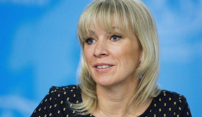 Η εκπρόσωπος Τύπου του ρωσικού υπουργείου εξωτερικών Μαρία Ζαχάροβα