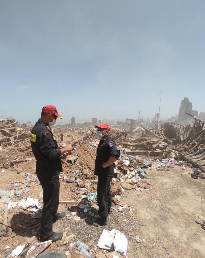 Η κόλαση της Βηρυτού μέσα απά τα μάτια της ΕΜΑΚ