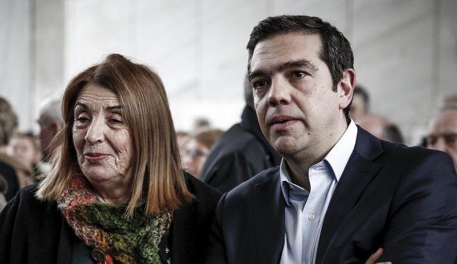 Η Τασία Χριστοδουλοπούλου και ο Αλέξης Τσίπρας