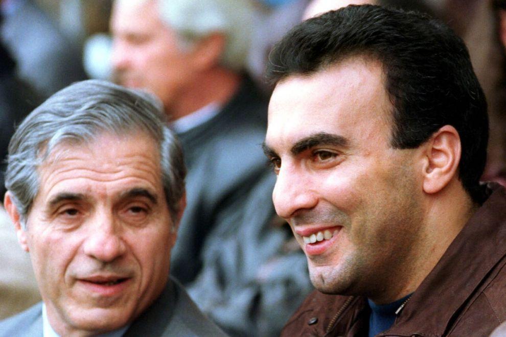 Ο Παύλος Γιαννακόπουλος και ο Νίκος Γκάλης στο ποσοσφαιρικό ΟΑΚΑ