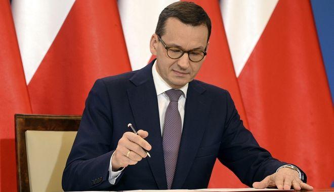 O Πολωνός Πρωθυπουργός Ματέους Μοραβιέτσκι