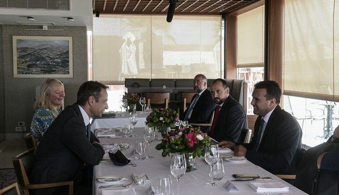 Γεύμα εργασίας του Πρωθυπουργού Κυριάκου Μητσοτάκη με τον Πρωθυπουργό της Δημοκρατίας της Βόρειας Μακεδονίας Ζόραν Ζάεφ, την Τετάρτη 16 Σεπτεμβρίου 2020