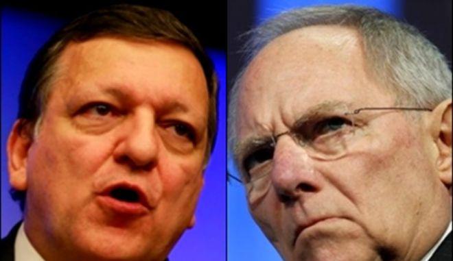 Κόντρα Μπαρόζο - Σόιμπλε για την πολιτική λιτότητας στην ευρωζώνη