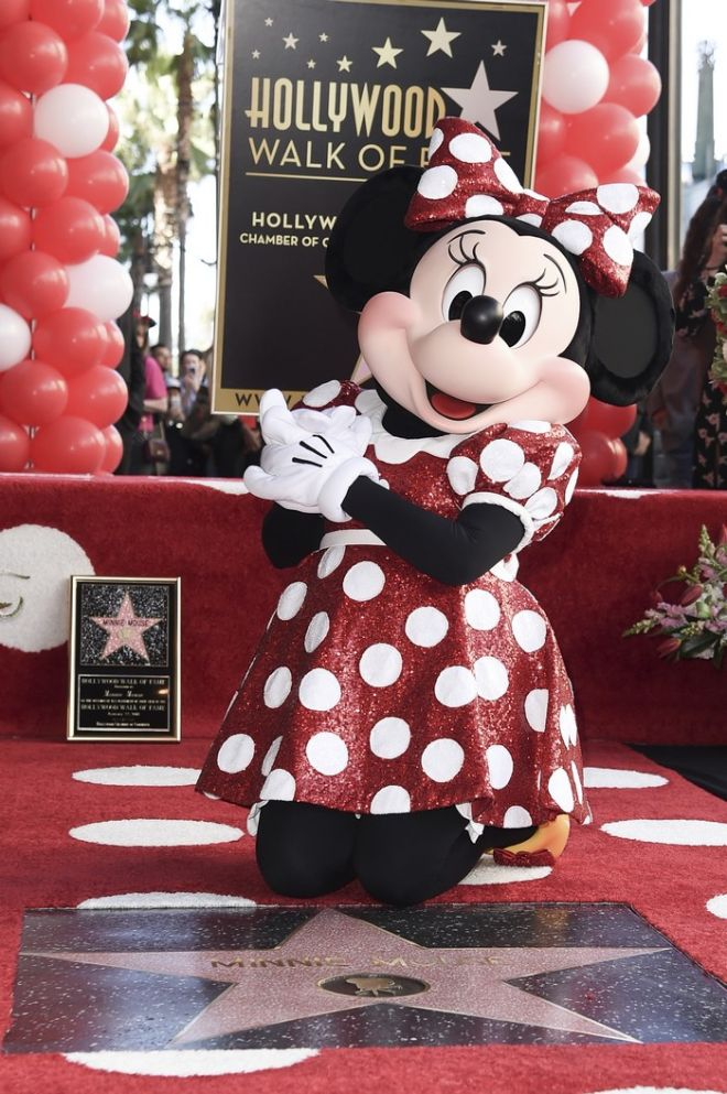 Minnie Mouse attends a ceremony honoring her with a star on the Hollywood Walk of Fame on Monday, Jan. 22, 2018, in Los Angeles. (Photo by Richard Shotwell/Invision/AP)
