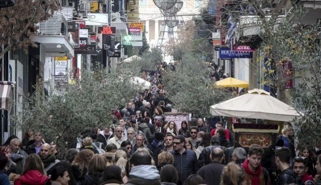 H οδός Ερμού της Αθήνας