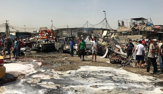 Έκρηξη σε γειτονιά σιιτών στη Βαγδάτη τον Αύγουστο του 2017