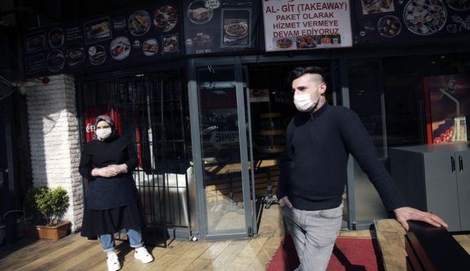 Σύμφωνα με την αντιπολίτευση, στην Τουρκία η πανδημία του κορονοϊού έχει ως αποτέλεσμα 2 εκατομμύρια άνθρωποι να βρίσκονται σε καθεστώς ανεργίας. (AP Photo/Burhan Ozbilici)