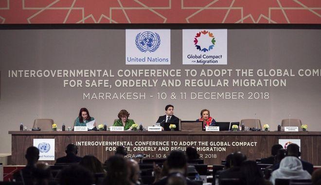 Από τη συνεδρίαση του ΟΗΕ για τη μετανάστευση στο Μαρόκο στις αρχές Δεκεμβρίου
