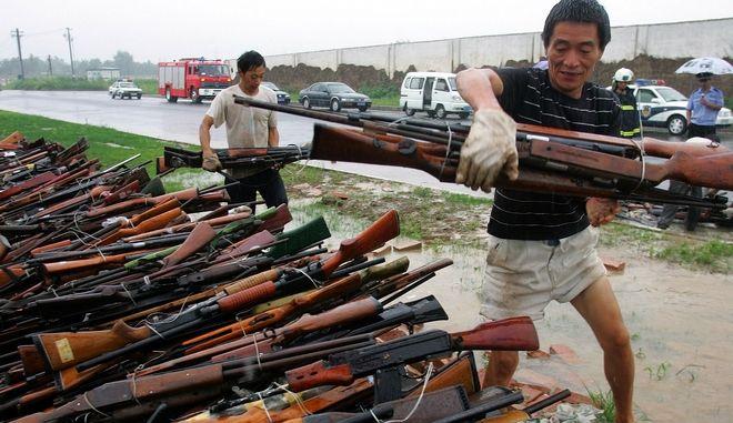 Παράνομο εμπόριο όπλων στην Κίνα