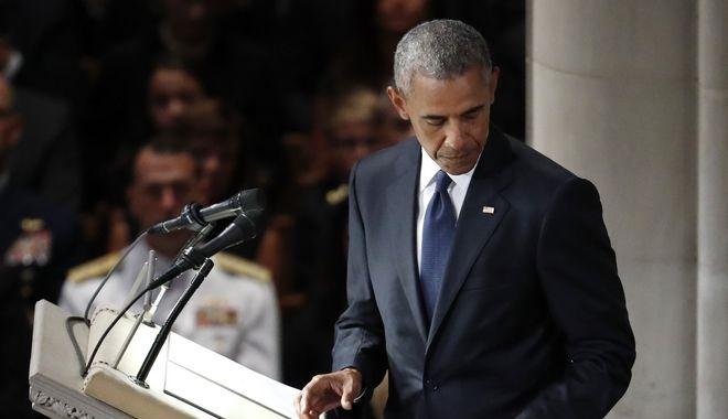 Και ο Μπαράκ Ομπάμα στην κηδεία