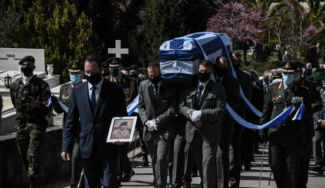 Εικόνα από την κηδεία του Ιάκωβου Τσούνη