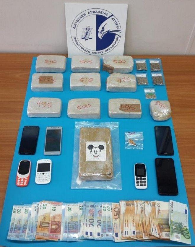 Συλλήψεις για διακίνηση ηρωίνης και κοκαΐνης στο κέντρο της Αθήνας