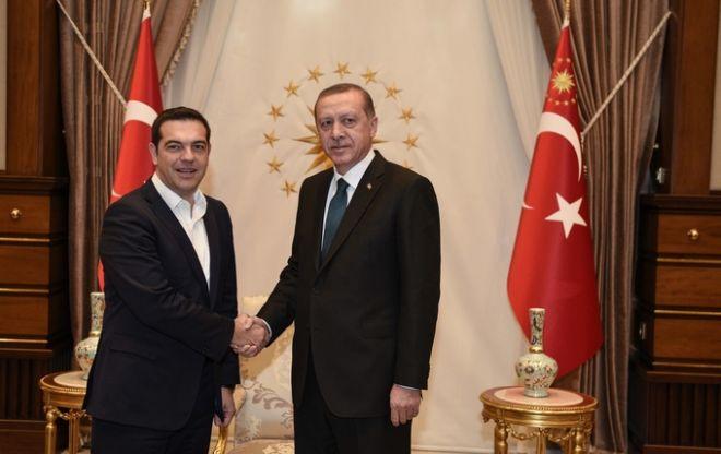ΤΟΥΡΚΙΑ- Συνάντηση του Πρωθυπουργού Α. Τσίπρα με τον Τούρκο Πρόεδρο Τ. Ερντογάν.(Eurokinissi)
