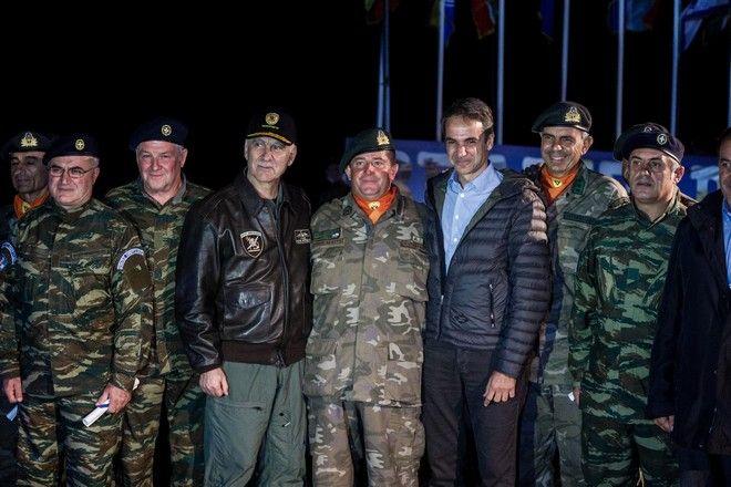 Ο Πρωθυπουργός Κυριάκος Μητσοτάκης στην τελική φάση της Τακτικής Άσκησης Μετά Στρατευμάτων (ΤΑΜΣ)
