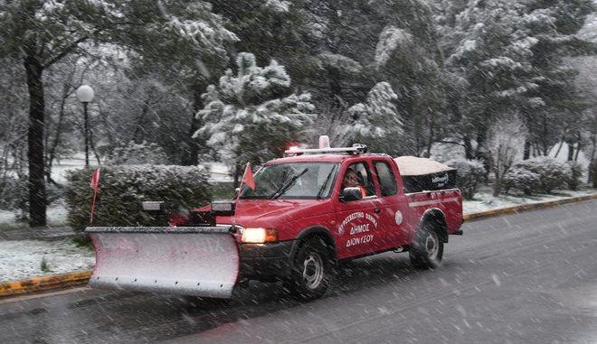 Χιόνια στο Διόνυσο
