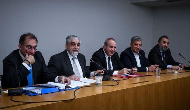 Συνέντευξη τύπου της Παμμακεδονικής Συνομοσπονδίας για την Συμφωνία των Πρεσπών, την Τετάρτη 16 Ιανουαρίου 2019. (EUROKINISSI/ΤΑΤΙΑΝΑ ΜΠΟΛΑΡΗ)