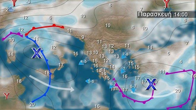 Βροχές και σποραδικές καταιγίδες στα κεντρικά και νότια