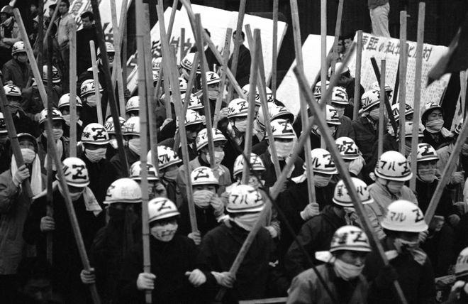 Αριστεριστές φοιτητές στο Τόκιο τον Νοέμβριο του 1968