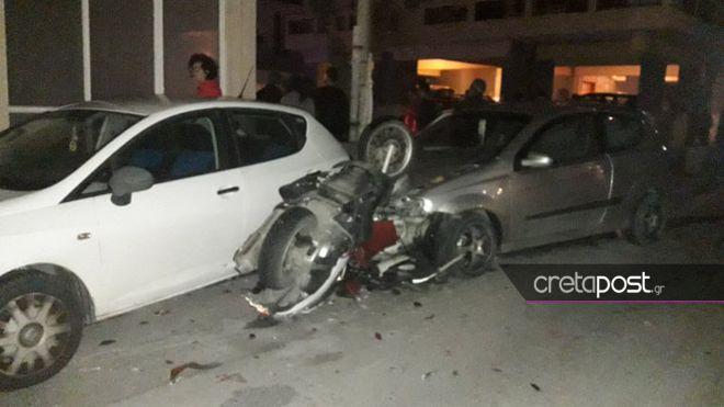 Κρήτη: Μάχη για τη ζωή του δίνει 25χρονος μετά από τροχαίο