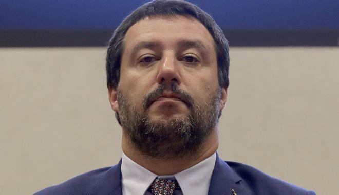 Ο Ιταλός υπουργός Εσωτερικών Ματέο Σαλβίνι