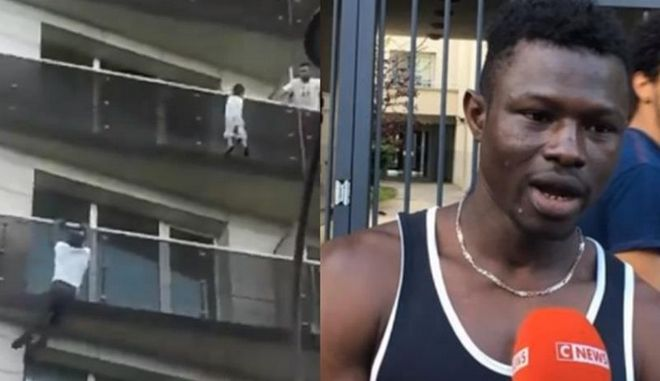Παράτυπος μετανάστης σώζει παιδί σκαρφαλώνοντας σε μπαλκόνια-Δεκτός από τον Μακρόν