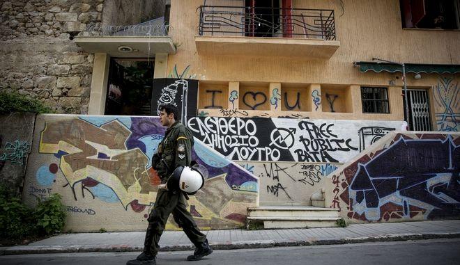 Επιχείρηση της Αστυνομίας για την εκκένωση της κατάληψης στην οδό Καλλιδρομίου στο Εξάρχεια, την Δευτέρα 12 Μαρτίου 2018.  (EUROKINISSI)