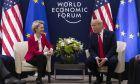 Ο Πρόεδρος των ΗΠΑ Ν.Τραμπ και η Πρόεδρος της Ευρωπαϊκής Επιτροπής Ούρσουλα φον ντερ Λάιεν κατά τη συνάντησή τους στο Νταβός