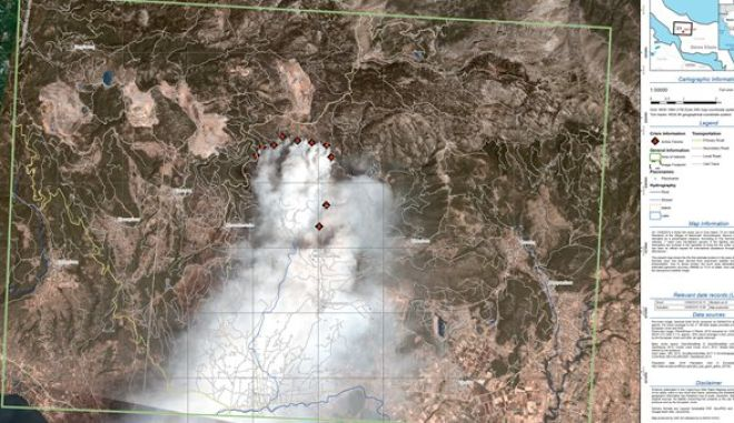 Φωτιά στην Εύβοια: Η φωτογραφική αποτύπωση από το Copernicus