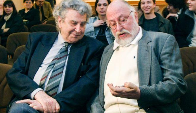 Ο Διονύσης Σαββόπουλος με τον Μίκη Θεοδωράκη