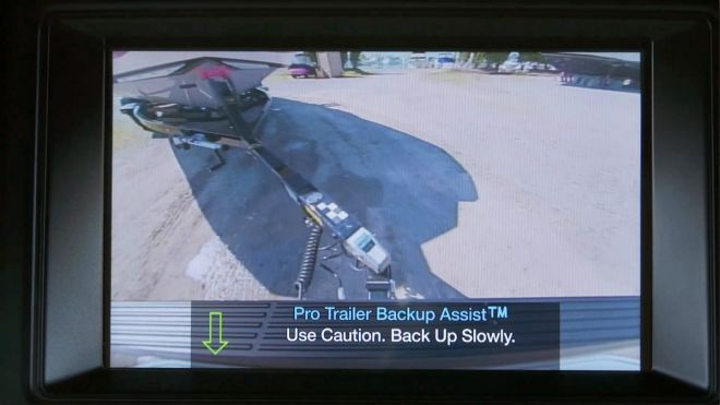 Pro Trailer Backup Assist helps take the frustration out of backing up with a trailer. It works by letting the customer steer the trailer with a control knob while the Expedition steers its wheels and limits vehicle speed. To operate Pro Trailer Backup Assist, the driver rotates a knob to indicate how much the system should turn the trailer, then the technology automatically steers the Expedition to turn the trailer the desired amount. The system can limit vehicle speed to enhance occupant comfort over various road surfaces. The result is less time required to back up a trailer along with added driver confidence; the technology can even help towing experts by reducing time lost to maneuvering mistakes.