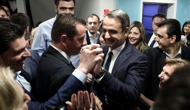 Δηλώσεις προέδρου της ΝΔ για τα αποτελέσματα των εκλογών