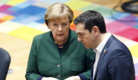 Ο πρωθυπουγρός Αλέξης Τσίπρας με την καγκελάριο της Γερμανίας Άγγελα Μέρκελ