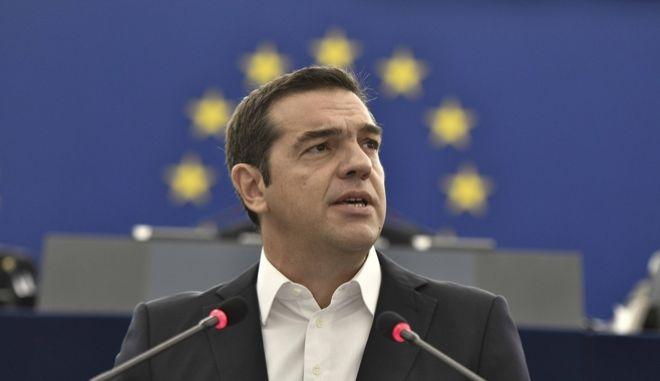 Ομιλία του Πρωθυπουργού Αλέξη Τσίπρα στην Ολομέλεια του Ευρωπαϊκού Κοινοβουλίου για το μέλλον της Ευρωπαϊκής Ένωσης, την Τρίτη 11 Σεπτεμβρίου 2018. (EUROKINISSI/ΓΡΑΦΕΙΟ ΤΥΠΟΥ ΠΡΩΘΥΠΟΥΡΓΟΥ/ANDREA BONETTI)