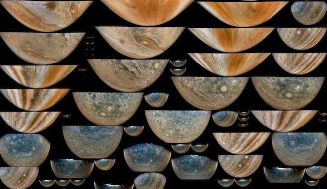 NASA: Οι τελευταίες θεαματικές εικόνες από τις περιστρεφόμενες θύελλες του Δία