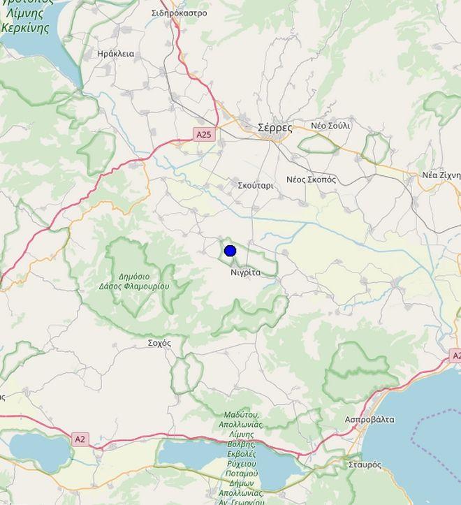 Ασθενής σεισμός 3,7 Ρίχτερ στο Κιλκίς