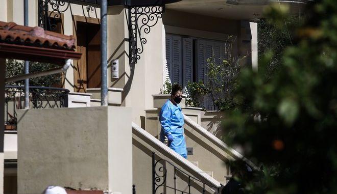 Έγκλημα στα Γλυκά Νερά. Καρέ από το σπίτι όπου βρέθηκε νεκρή η Κάρολαιν