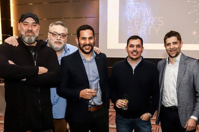 Από αριστερά: Βαγγέλης Αρναούτογλου, Γιάννης Φιλέρης, Γρηγόρης Μπάτης, Γιώργος Οικονόμου, Παντελής Διαμαντόπουλος