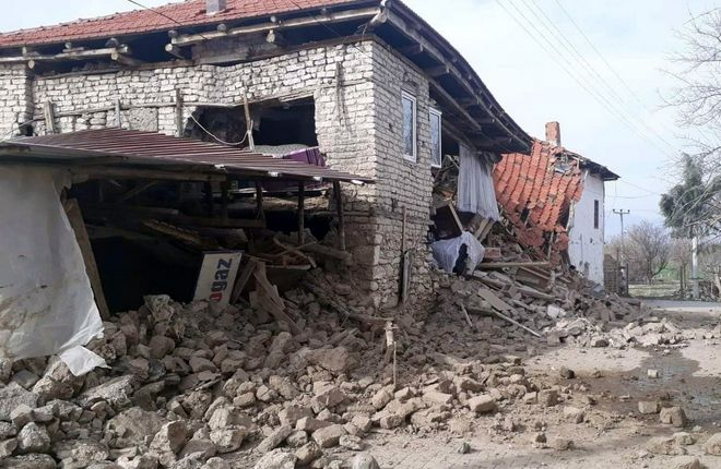 Κατεστραμμένο σπίτι στην πόλη Acipayam στην επαρχία Ντενιζλί, νοτιοδυτική Τουρκία, Τετάρτη, 2019