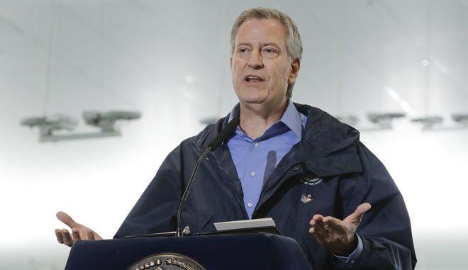 Ο δήμαρχος της Νέας Υόρκης Μπιλ ντε Μπλάζιο