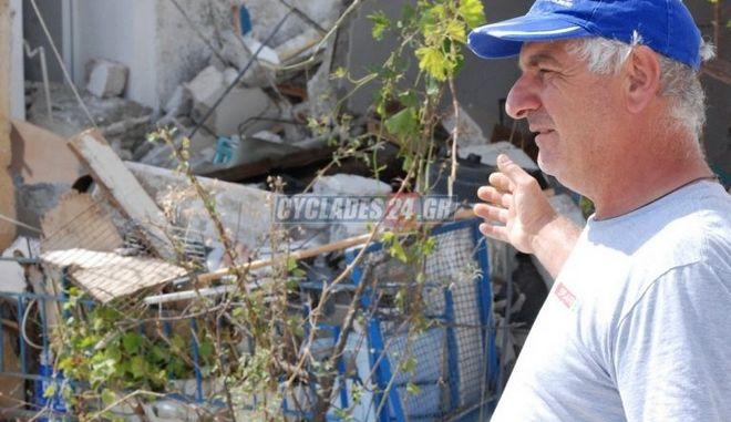 """""""Γης Μαδιάμ"""" έγινε σπίτι στη Νάξο από έκρηξη φιάλης υγραερίου"""
