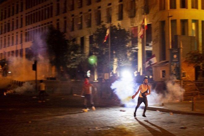 Επεισόδια στη Βηρυτό μετά τις εκρήξεις